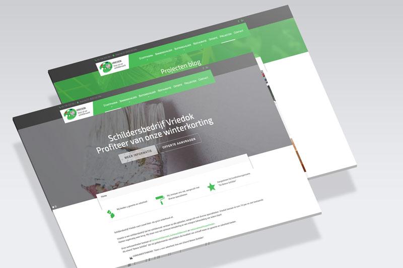 Schildersbedrijf Vriedok webdesignproject